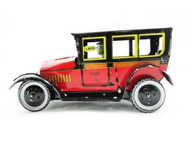 taxi rojo hojalata