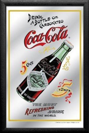 espejo botella coke
