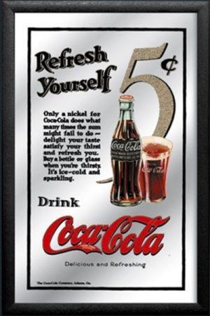 espejo coca-cola refrescate