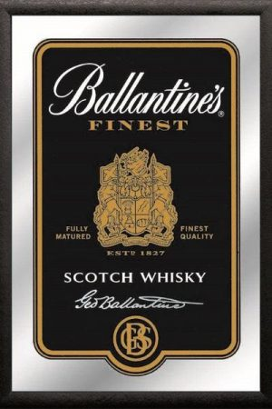 espejo whiskey ballantines