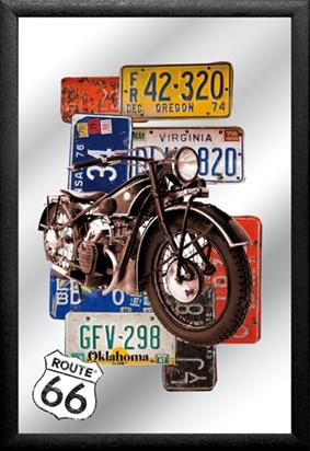 decoracion ruta 66 moto