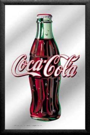 espejo botella coca-cola