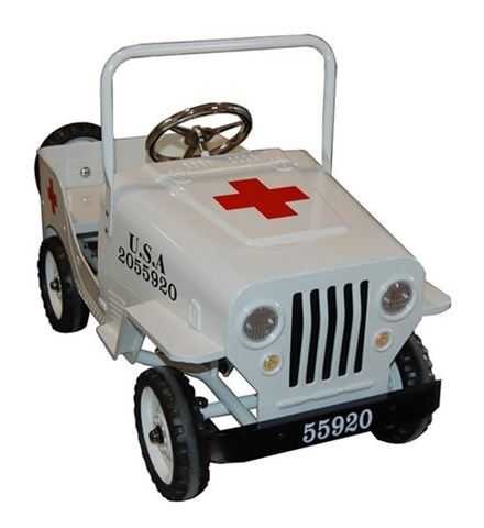 coche pedales 4x4 niño cruz roja