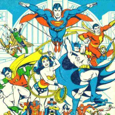 poster superheroes dc