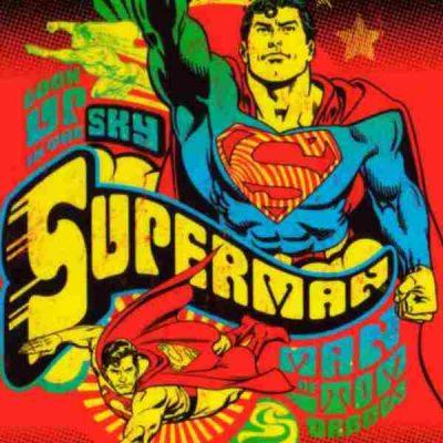 poster superman volando