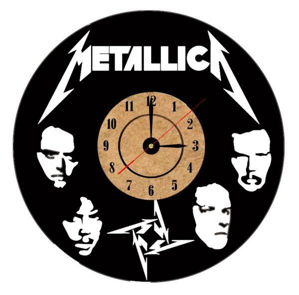 reloj de pared metallica