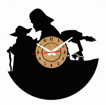 reloj de pared star wars