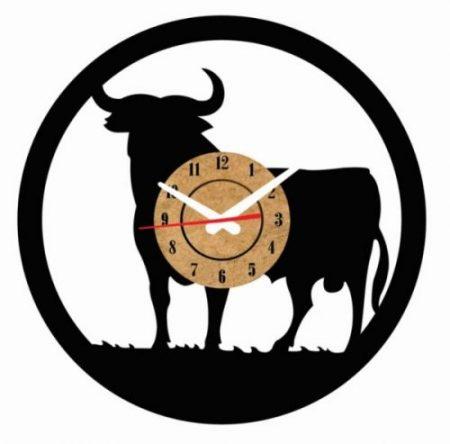 reloj vinilo pared toro españa