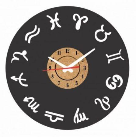 reloj pared vinilo signos del zodiaco