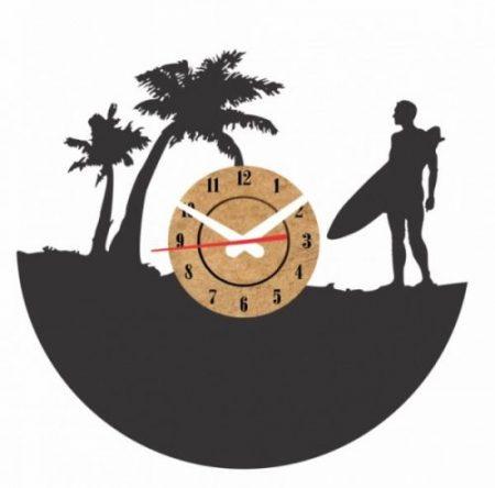 reloj vinilo pared surf playa