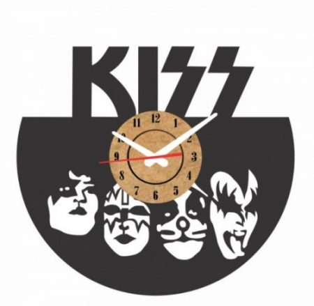 reloj pared vinilo kiss