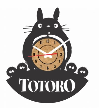 reloj de pared vinilo totoro