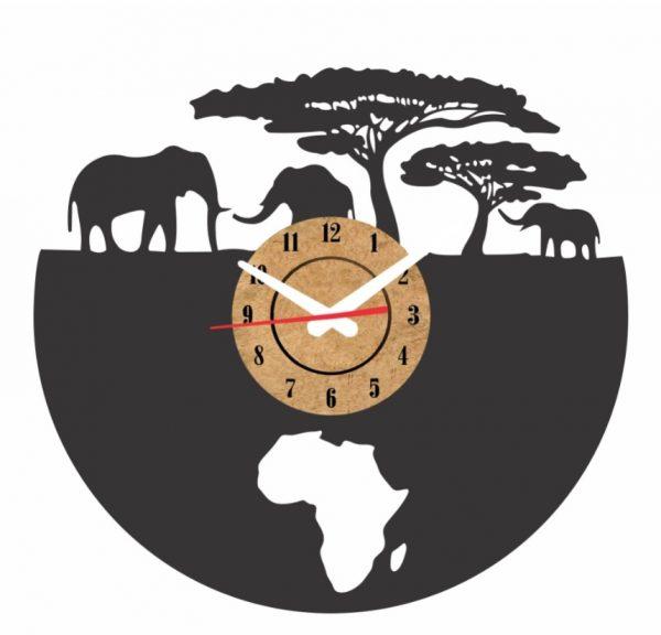 reloj vinilo pared africa