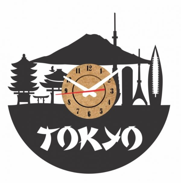 reloj vinilo pared tokyo