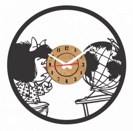 reloj pared vinilo mafalda