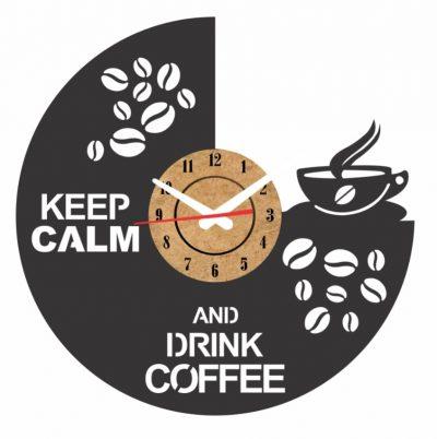 reloj cafe vinilo pared