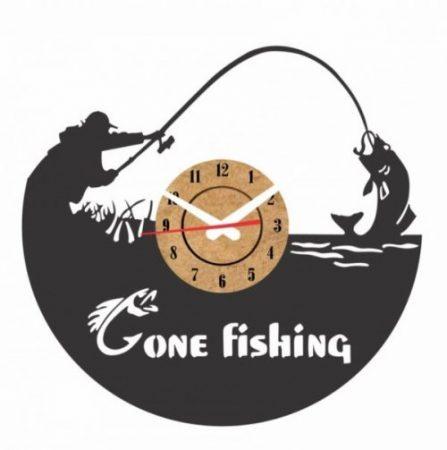 reloj pesca vinilo pared