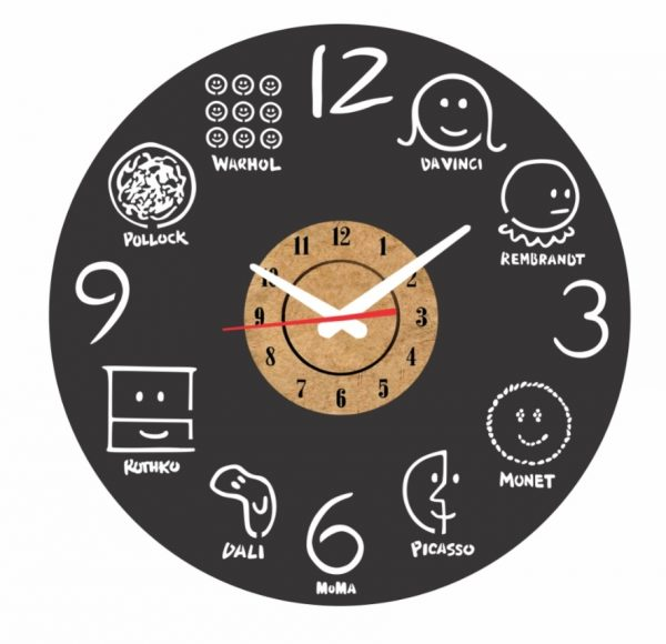 reloj pared vinilo artistas