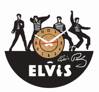 reloj pared vinilo elvis