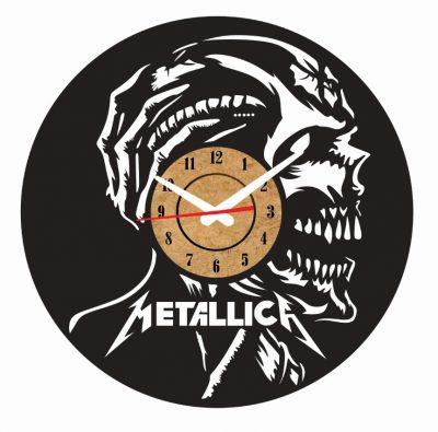 reloj pared vinilo metallica