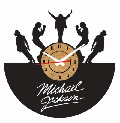 reloj pared vinilo michael jackson