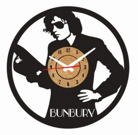 reloj pared vinilo bunbury