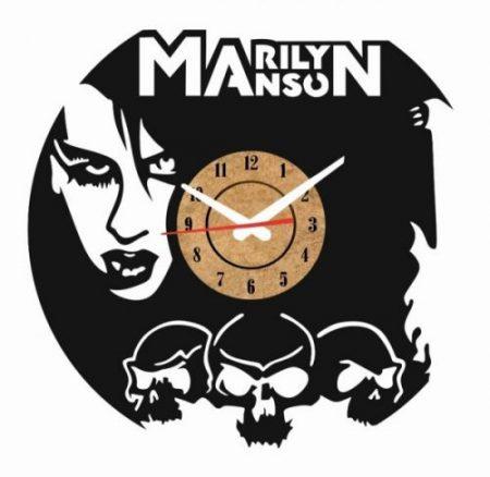 reloj pared vinilo marilyn manson