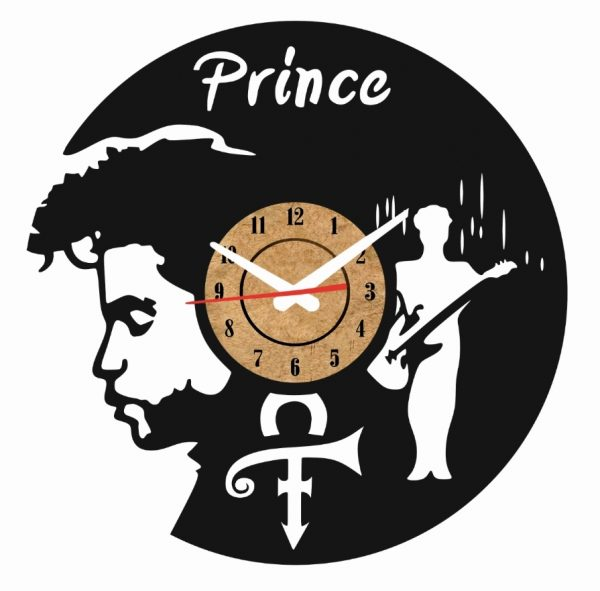 Reloj pared vinilo prince