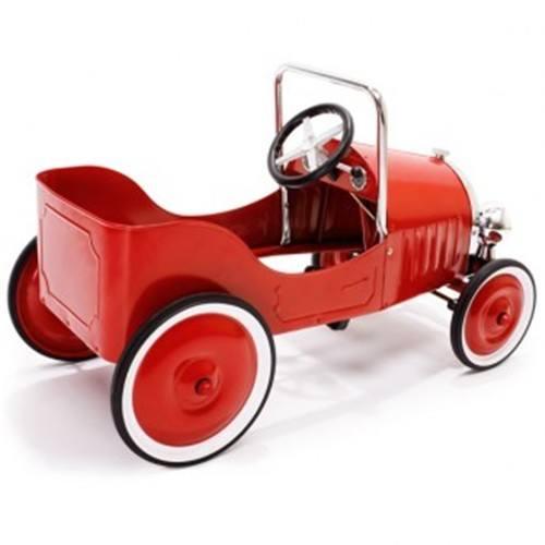 coche pedales rojo antiguo