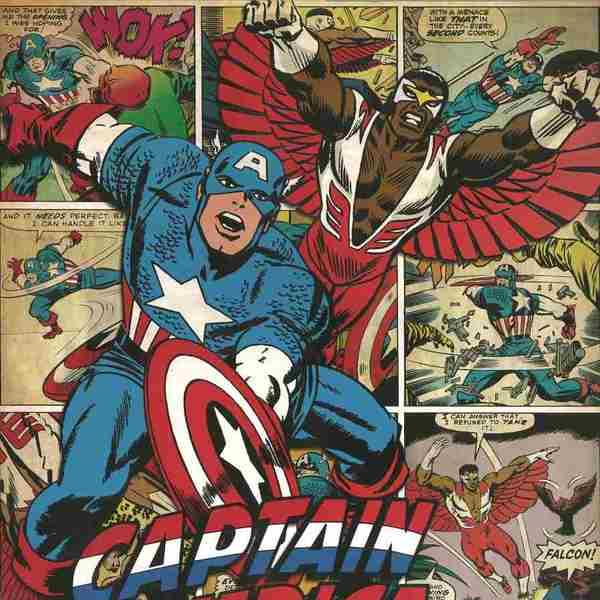 lamina capitan america y falcon