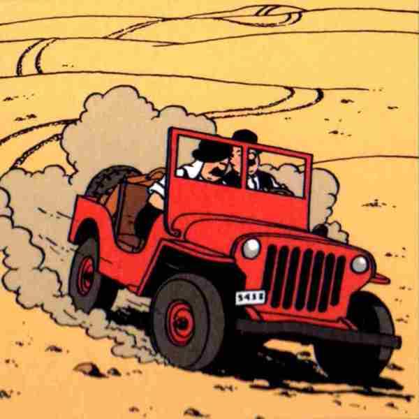 lamina tintin tintin jeep 4x4
