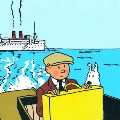 lamina tintin navegando